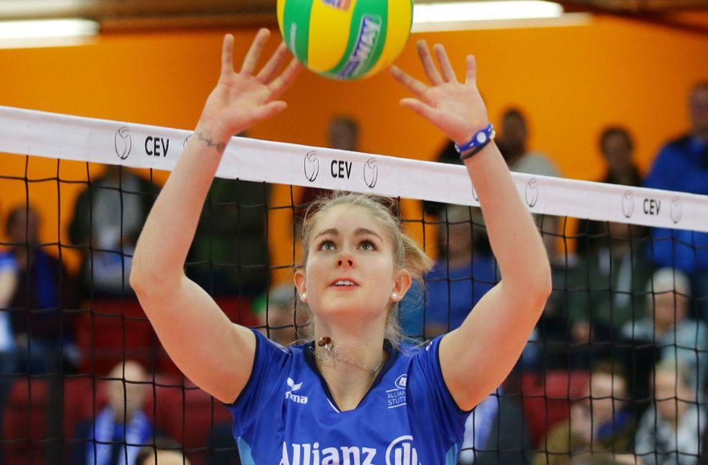 Zuspielerin mit viel Ballgefühl: Pia Kästner von Allianz MTV Stuttgart Foto: Baumann