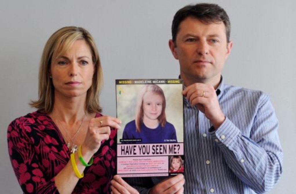 Seit sechs Jahren wird Maddie McCann vermisst. Die Eltern geben die Hoffnung nicht auf. Mit viel Öffentlichkeitswirkung suchen sie nach ihrem Kind, das aus einer Ferienanlage in Portugal verschwunden war. Foto: dpa