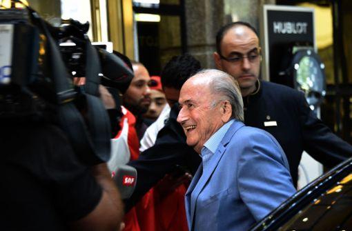 Ex-FIFA-Präsident Joseph S. Blatter in Moskau eingetroffen