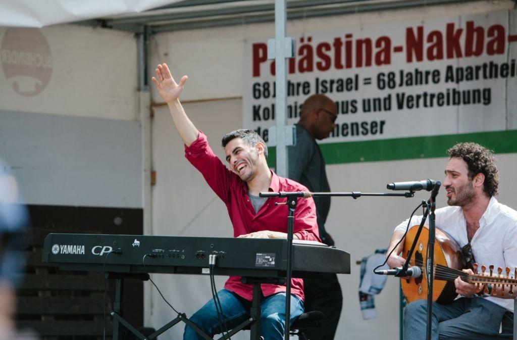 Der Palästina-Nakba-Tag auf dem Stuttgarter Schlossplatz Foto: Lichtgut/Verena Ecker