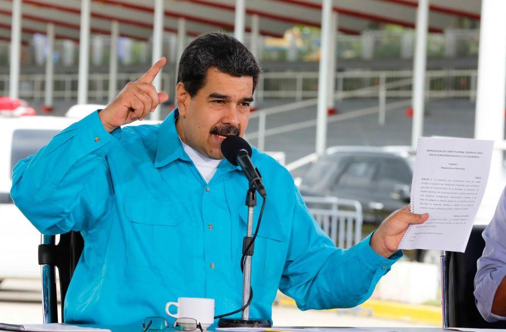 Staatschef Nicolás Maduro Foto: AFP