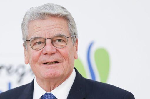 """Gauck wirbt für mehr """"Toleranz in Richtung rechts"""""""
