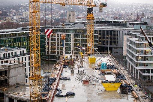 Mit dem Europaviertel entsteht hinter dem Stuttgarter Hauptbahnhof ein ganz neues Stadtquartier. Foto: www.7aktuell.de/Florian Gerlach