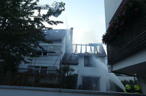 Feuer in Zweifamilienhaus