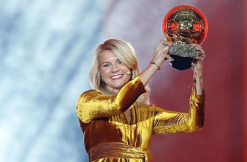 Ada Hegerberg wurde zur besten Fußballerin der Welt gekürt. Foto: AP