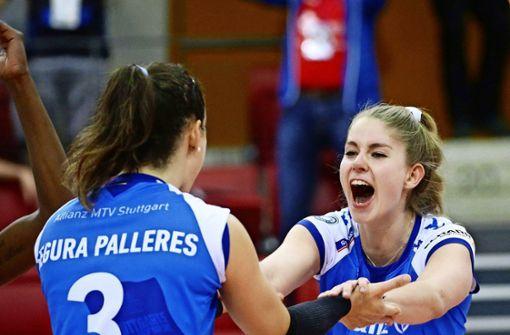 Stuttgarter Volleyballerinnen gewinnen Spitzenspiel