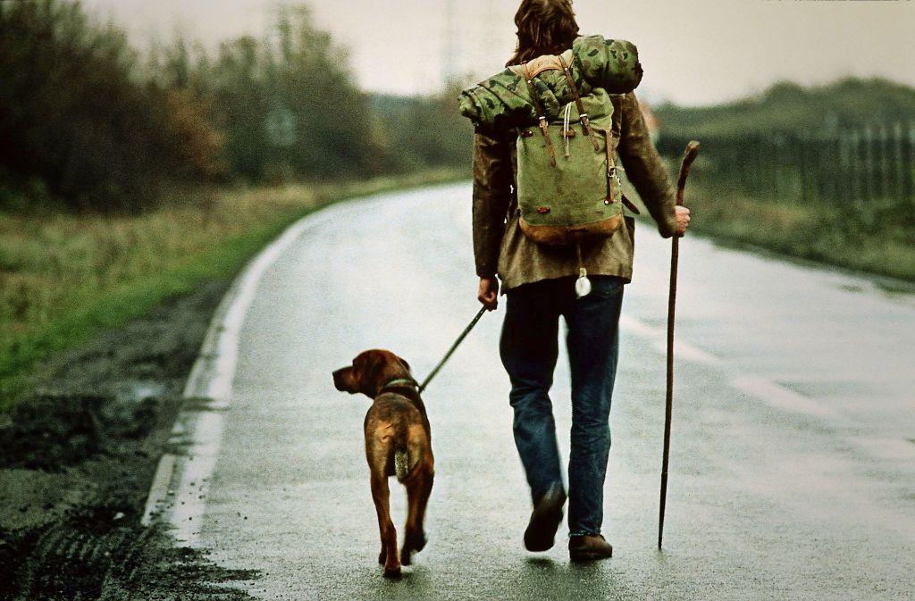 Michael Holzach und sein Hund Feldmann auf Deutschlandreise Foto: Timm Rautert/VISUM