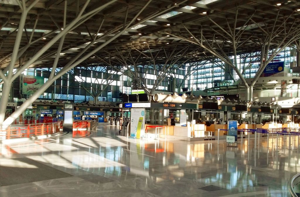 Leeres Terminal am Stuttgarter Flughafen Foto: Christoph Link