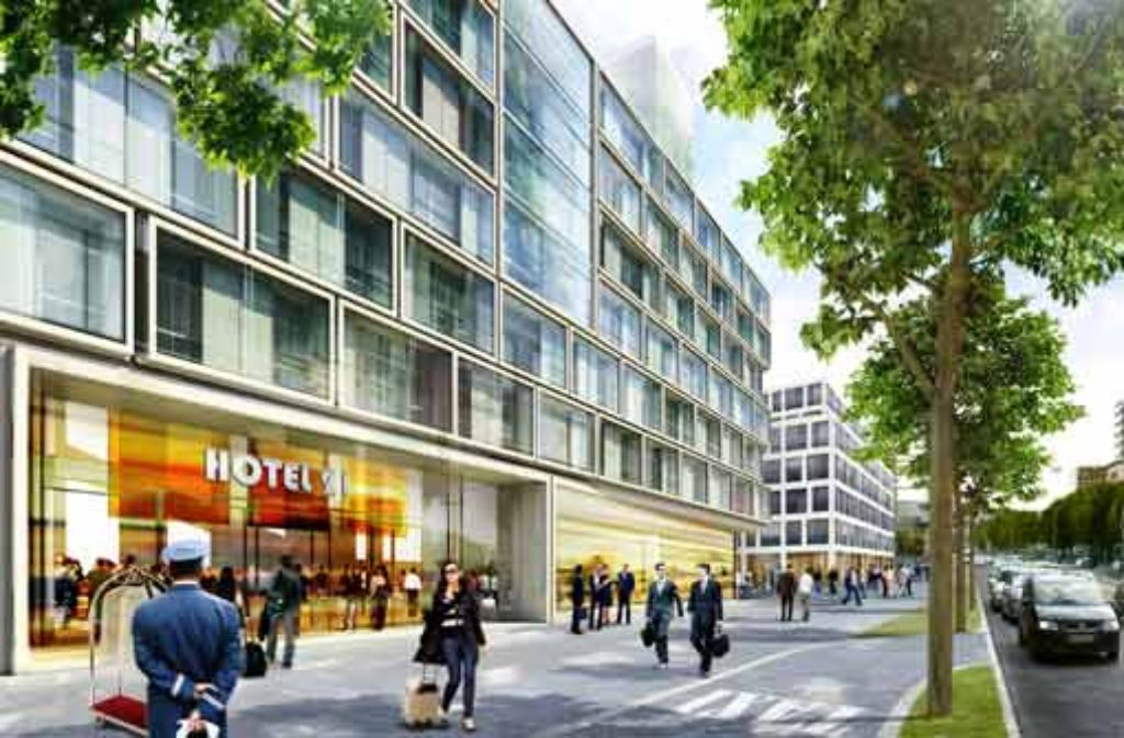 Neben dem Einkaufszentrum auf dem Areal an der Heilbronner/Wolframstraße sieht die Planung auch ein Drei- bis Vier-Sterne-Hotel mit 150 Zimmern vor. Foto: StZ
