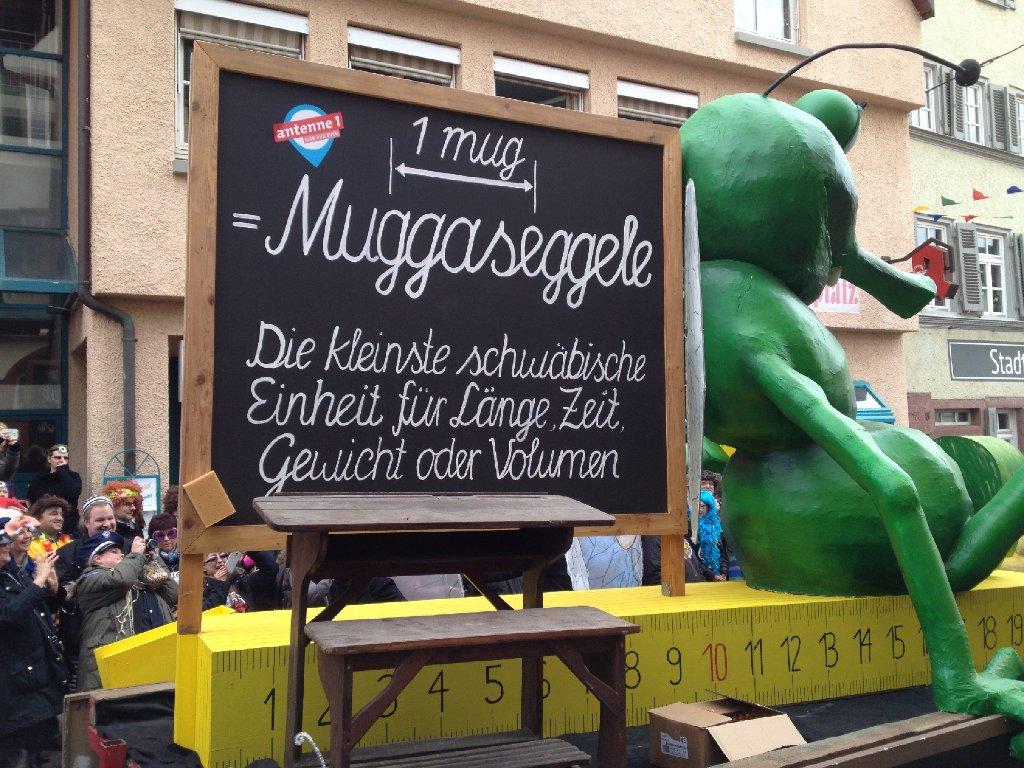 Das Muggaseggele ist die Attraktion des Weiler Umzugs. Foto: Thomas Slotwinski
