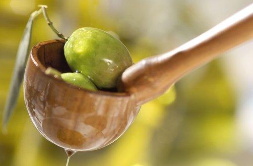 Ein Olivenbaum ergibt etwa 20 Kilogramm Oliven und damit zwei bis drei Liter Öl. Foto: StZ
