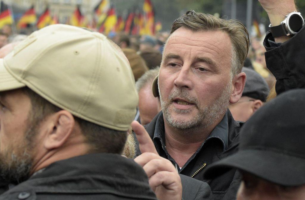 Der Staatsschutz ermittelt gegen Pegida-Frontmann Lutz Bachmann. Foto: AP