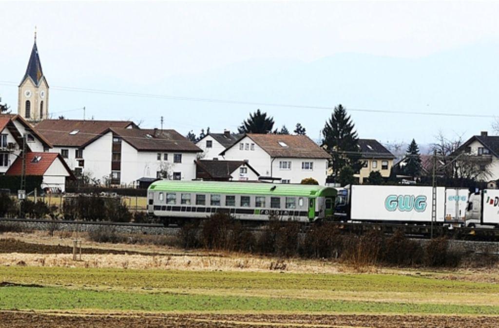 Der Ausbau der Rheintalbahn: Ein Milliardenprojekt. Foto: dpa