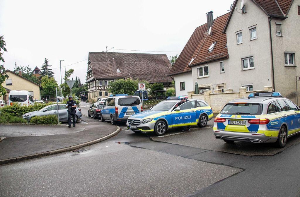 Vier Männer haben einen Großeinsatz der Polizei in Hildrizhausen ausgelöst. Foto: SDMG/Dettenmeyer