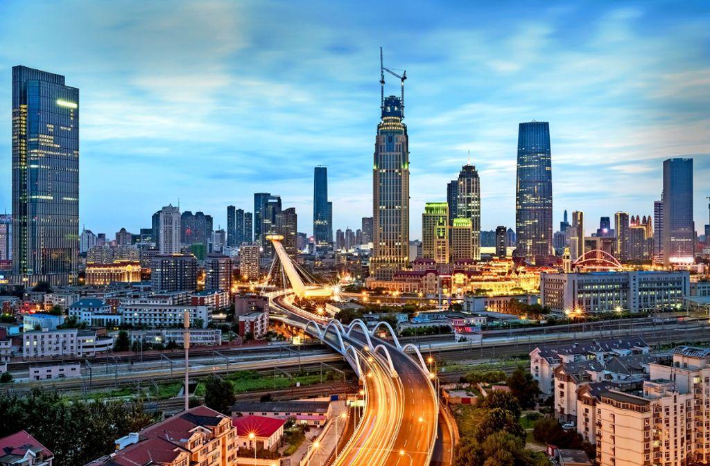 Der Technologiekonzern Bosch hat Tianjin 2017 als Aushängeschild für das Projekt smarte Stadt präsentiert. Foto: Bosch