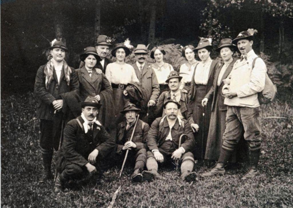 Ein Bild ais dem Jahr 1913. Damals waren die Damen und Herren in den Löwensteiner Bergen unterwegs. Foto: z