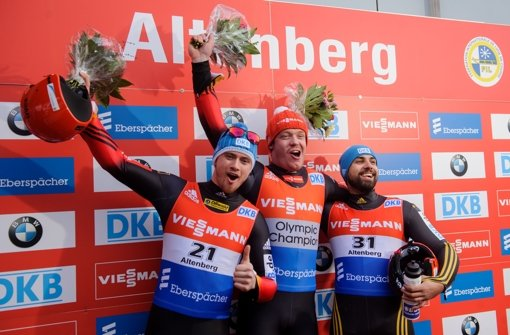 Drei Deutsche auf Treppchen in Altenberg
