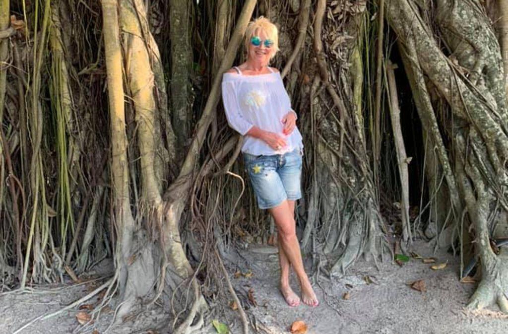 Entertainerin Doris Reichenauer auf den Malediven. Foto: Facebook/Reichenauer