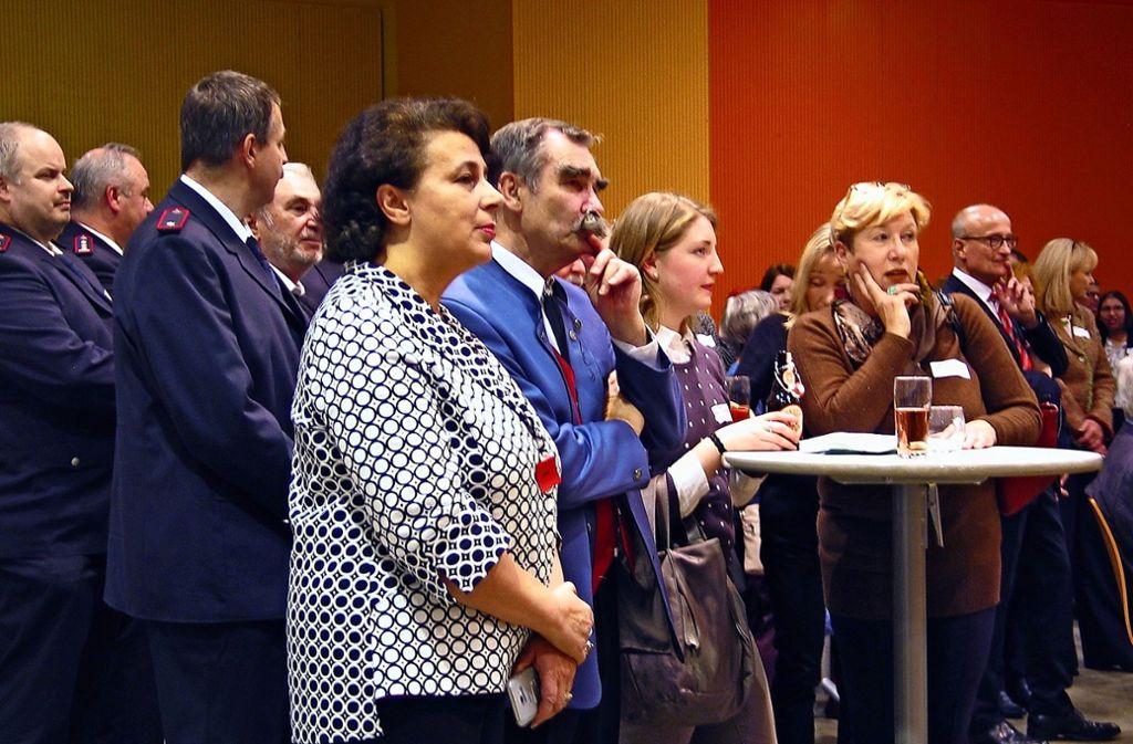 Gäste beim Neujahrsempfang im Roter Bürgerhaus. Foto: Susanne Müller-Baji