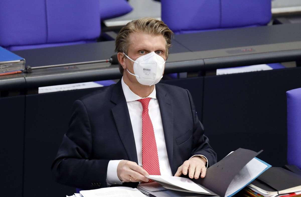 """""""Ich habe keinerlei Druck ausgeübt"""", sagte Thomas Bareiß am Freitag in Stuttgart. Foto: imago images/Future Image/Christoph Hardt"""