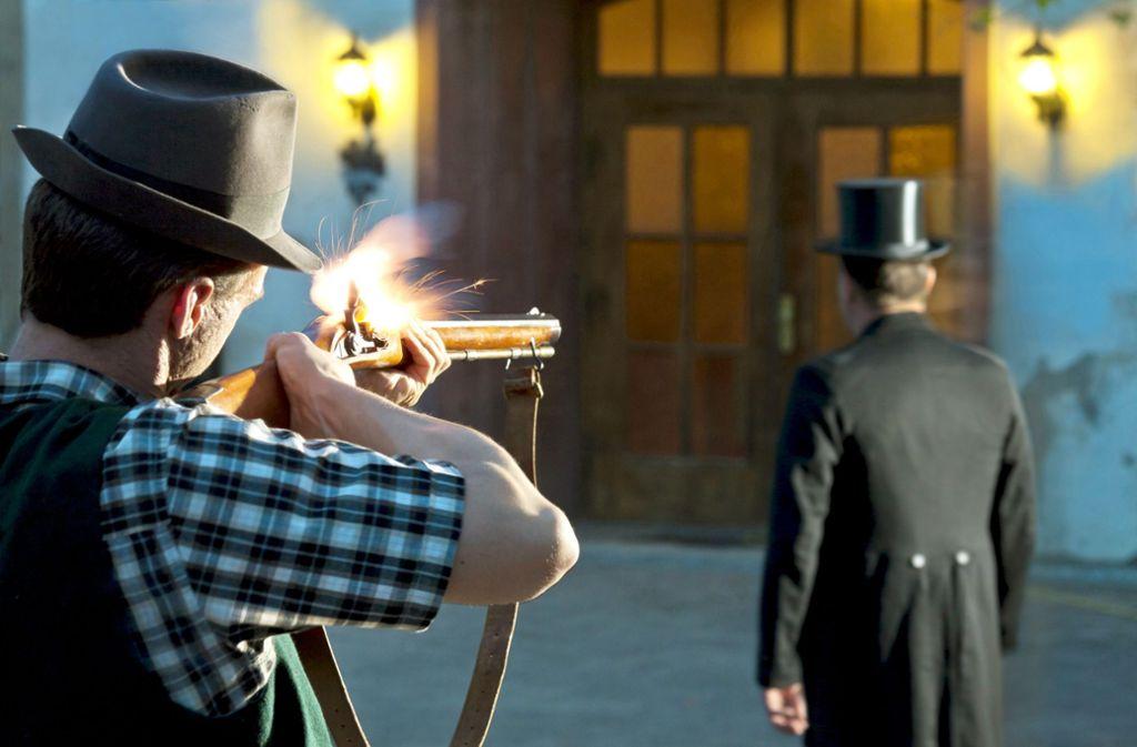 So könnte sich der Mord an Bürgermeister Rieber im Jahr 1835 abgespielt haben. Foto: Boris Lehner