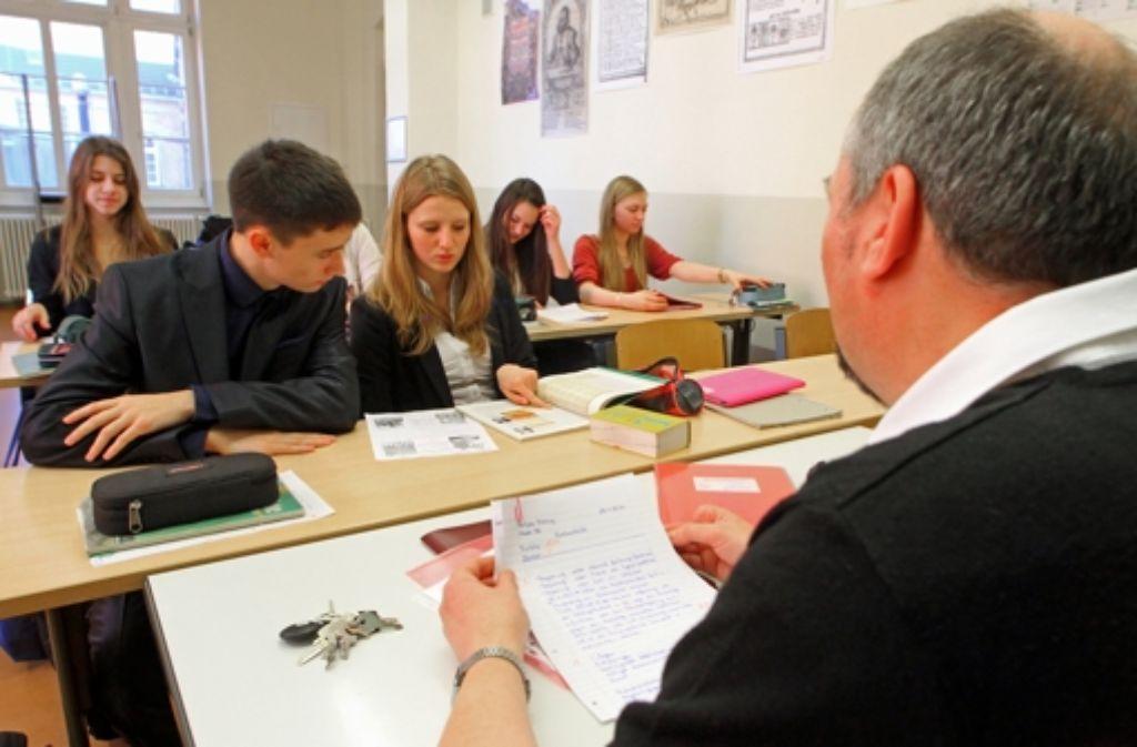 Die Zahl der Gymnasiasten in Stuttgart steigt im deutschlandweiten Vergleich überdurchschnittlich. Foto: dpa-Zentralbild