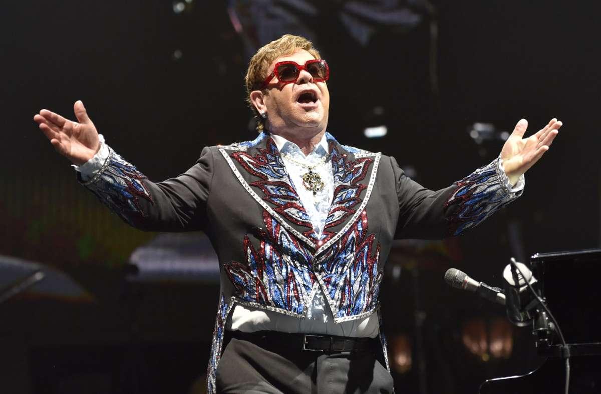 Sir Elton John ist seit langem auf Abschiedstournee. Langsam wird es aber ernst. Foto: dpa/Rob Grabowski