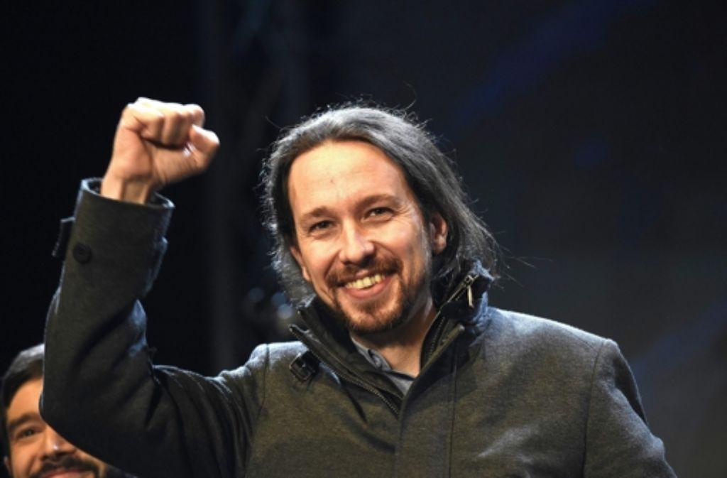Pablo Iglesias, Anführer der Partei Podemos, gehört zu den großen Gewinnern der spanischen Parlamentswahl. Foto: dpa