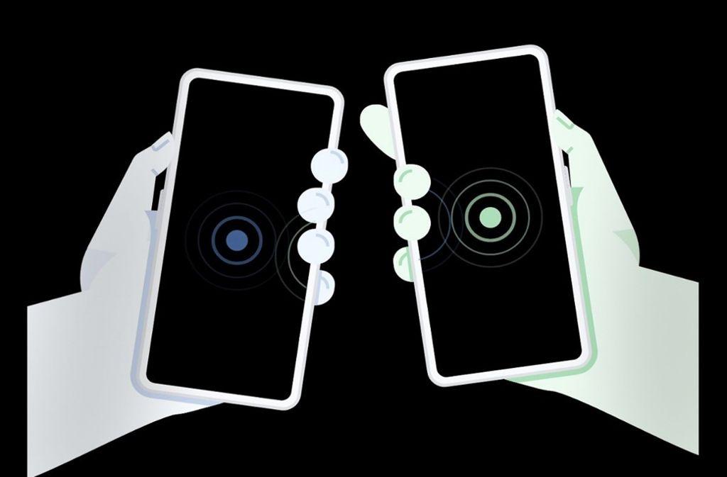 Bei Apple-Geräten funktioniert bereits das kabellose Verschicken von Daten, jetzt will Google nachziehen. Foto: xda-developers