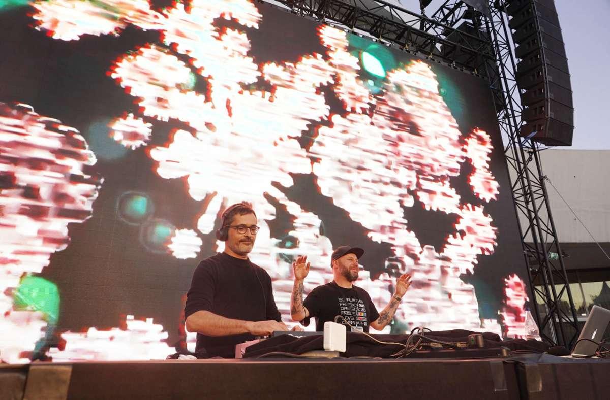 Zur Feier des Tages legten DJs auf. Foto: Fotoagentur-Stuttgart/Andreas Rosar
