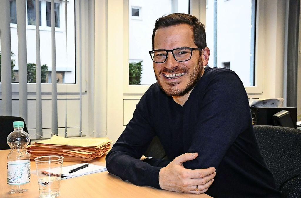 Raiko Grieb (40) will auch Städtepartnerschaften mehr beleben. Foto: Georg Linsenmann