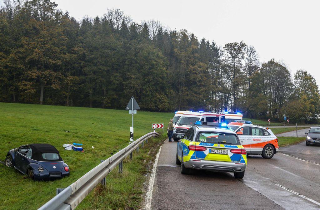 Die 21-jährige Fahrerin war nicht angeschnallt. Sie wurde bei dem Unfall schwer verletzt. Foto: 7aktuell.de/Christina Zambito/Christina Zambit