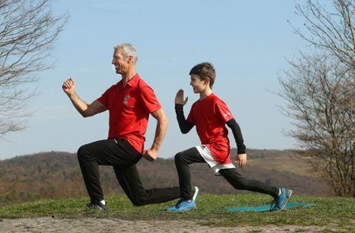 Bleiben Sie sportlich! Heute der Ausfallschritt
