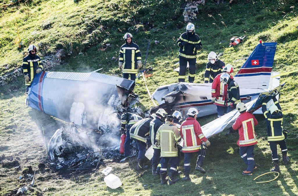 In der Schweiz ist am Dienstagabend ein Kleinflugzeug aus Baden-Württemberg abgestürzt. Foto: dpa