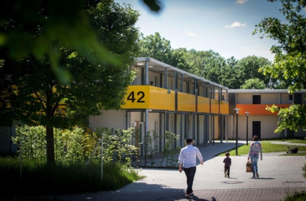 Der Bau von Systembauten für Flüchtlinge geht weiter. Foto: Lichtgut/Achim Zweygarth