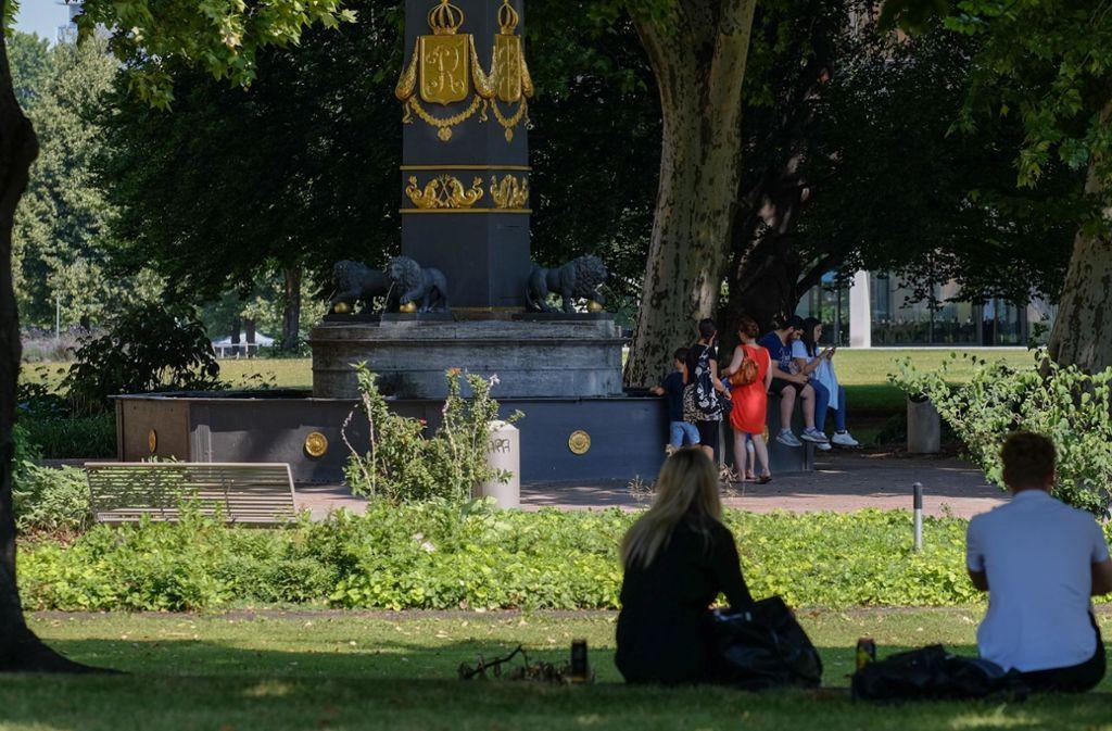 An heißen Sommertagen ist der Akademiegarten durchaus ein beliebtes Plätzchen. Foto: Lichtgut/Max Kovalenko