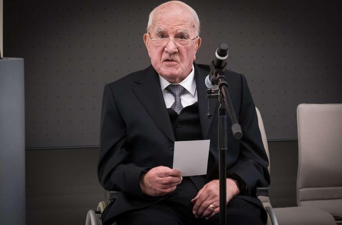 Otto Rettenmaier bei der Einweihung des gleichnamigen Audimax an der Uni Hohenheim Foto: Lichtgut/Achim Zweygarth