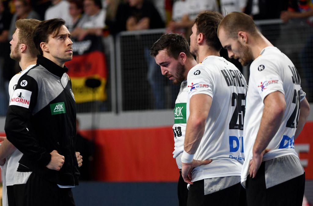 Der Frust sitzt tief: Für die deutschen Handballer ist die EM vorbei. Foto: dpa