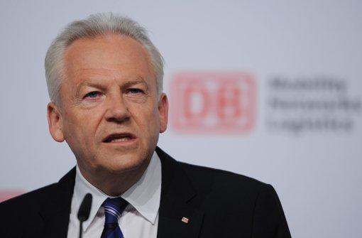 Bahnchef Rüdiger Grube. Foto: dpa