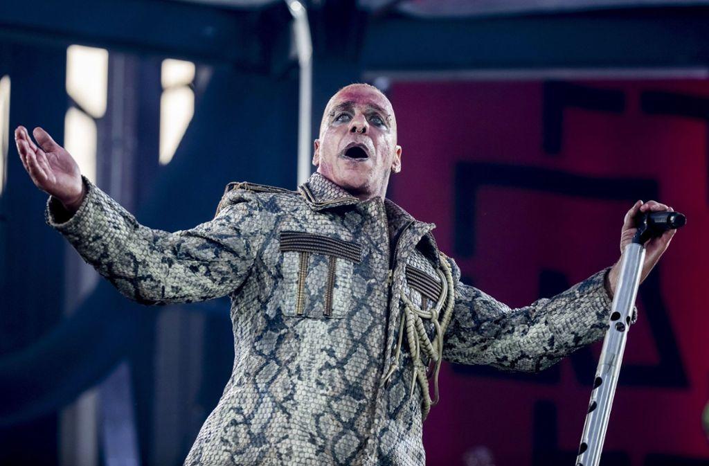 Till Lindemann bei einem Auftritt in Berlin (Archivbild). Foto: dpa/Christoph Soeder