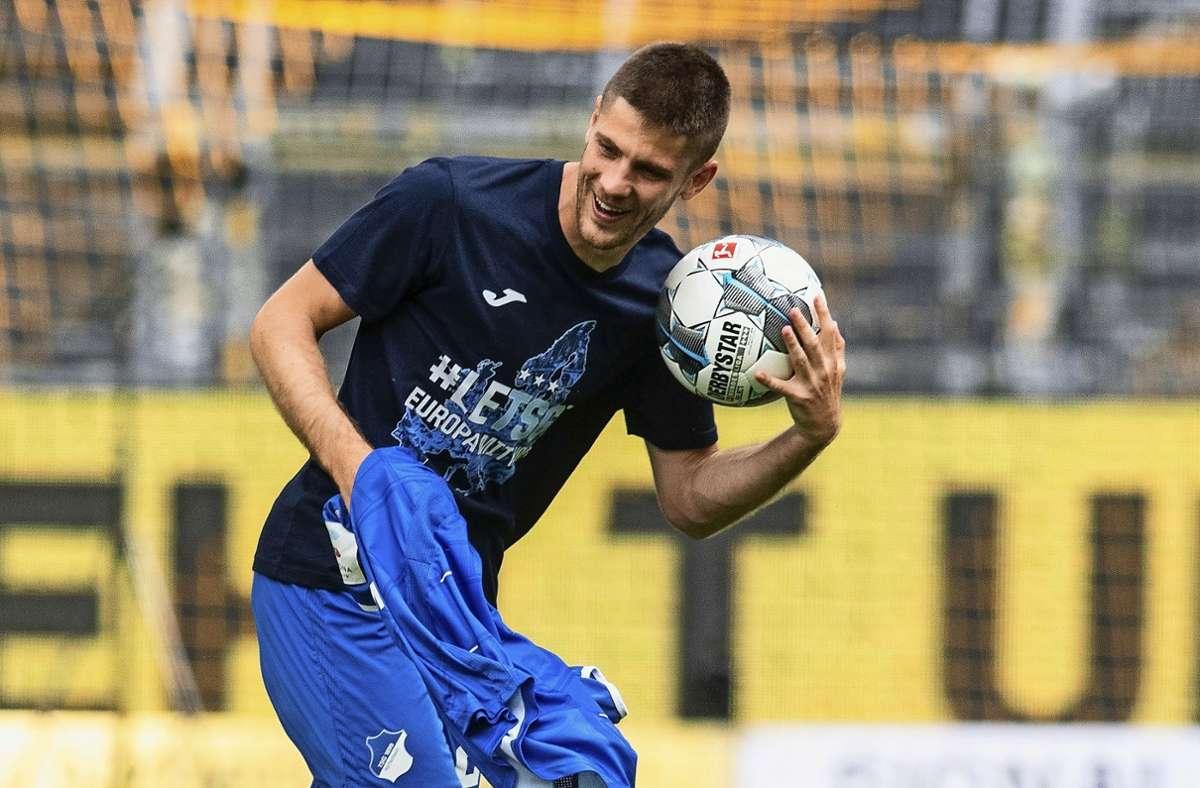 Aufreizend lässig: Hoffenheims kroatischer Stürmer Andrej Kramaric. Foto: dpa/Bernd Thissen