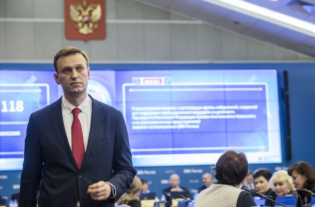 Nawalny ist der bedeutendste Widersacher von Präsident Putin in dessen 18 Jahren an der Macht. Foto: Navalnys campaign/AP