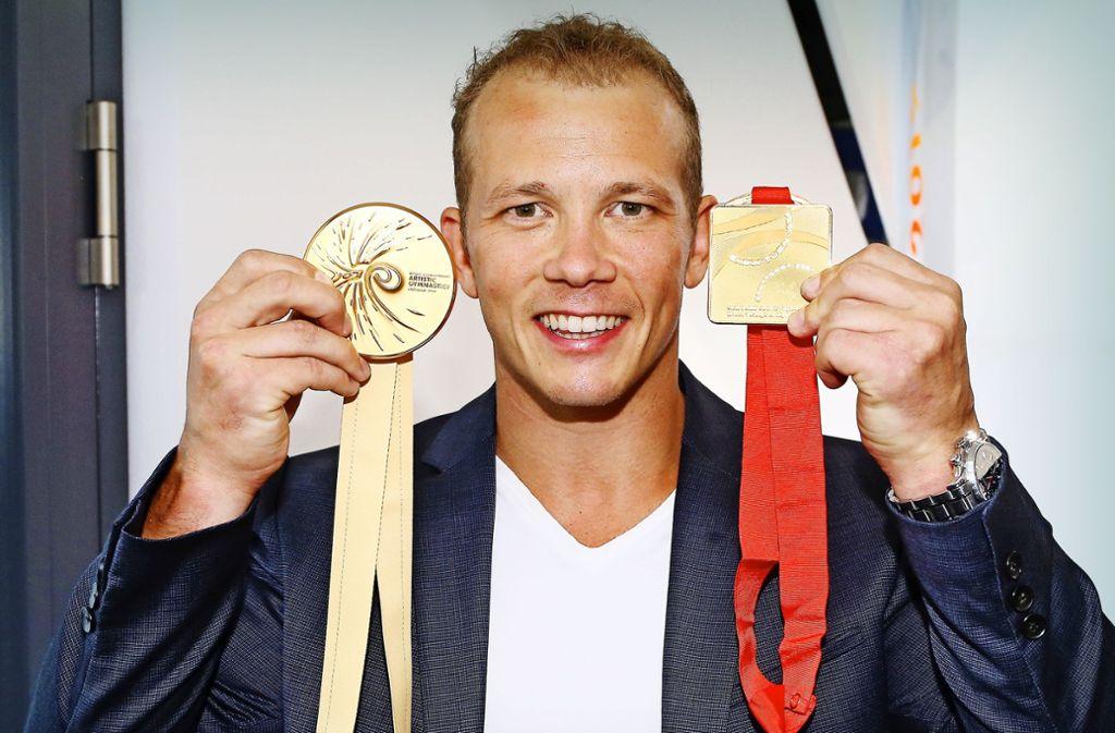 Irgendwie ein goldiger Typ: WM-Botschafter Fabian Hambüchen Foto: Baumann