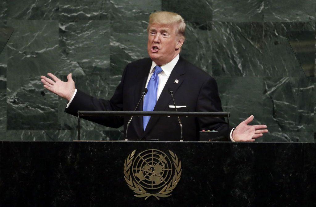Bei seiner Rede vor den Vereinten Nationen hatte Trump Nordkorea mit totaler Zerstörung gedroht. Foto: AP