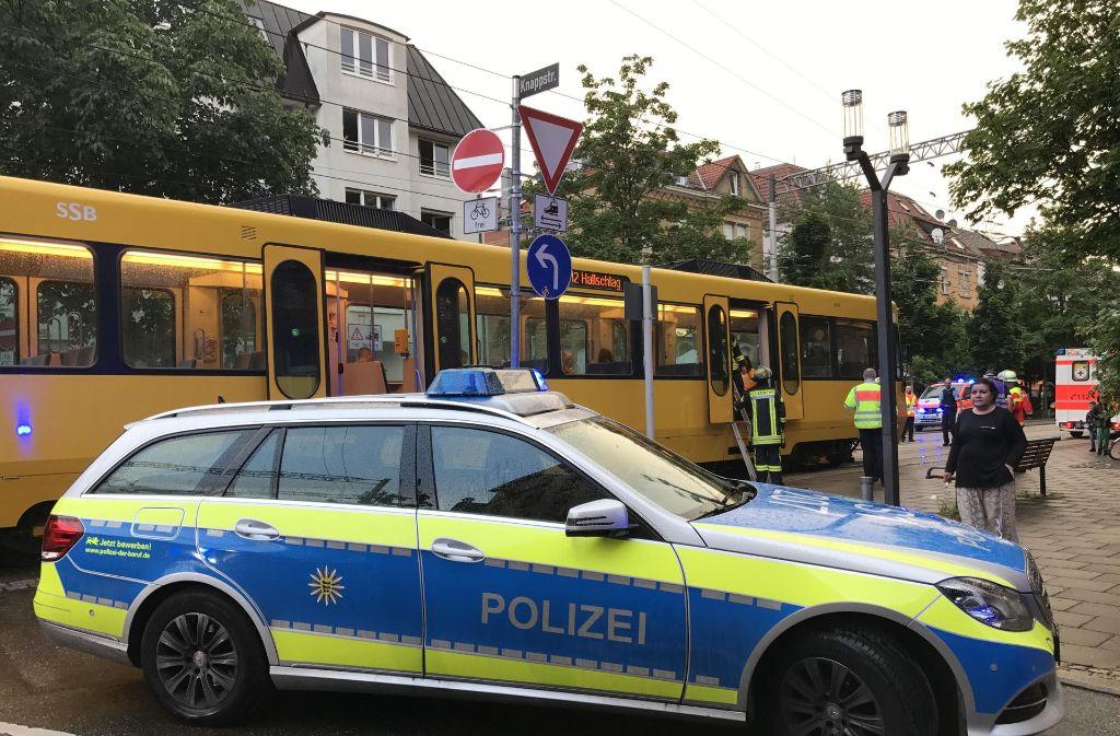Tatort Nordbahnhofstraße in Stuttgart: Die Polizei sucht die Täter, die einen Stadtbahnfahrer nach einem Unfall angegriffen haben. Foto: 7aktuell.de/Sven Adomat