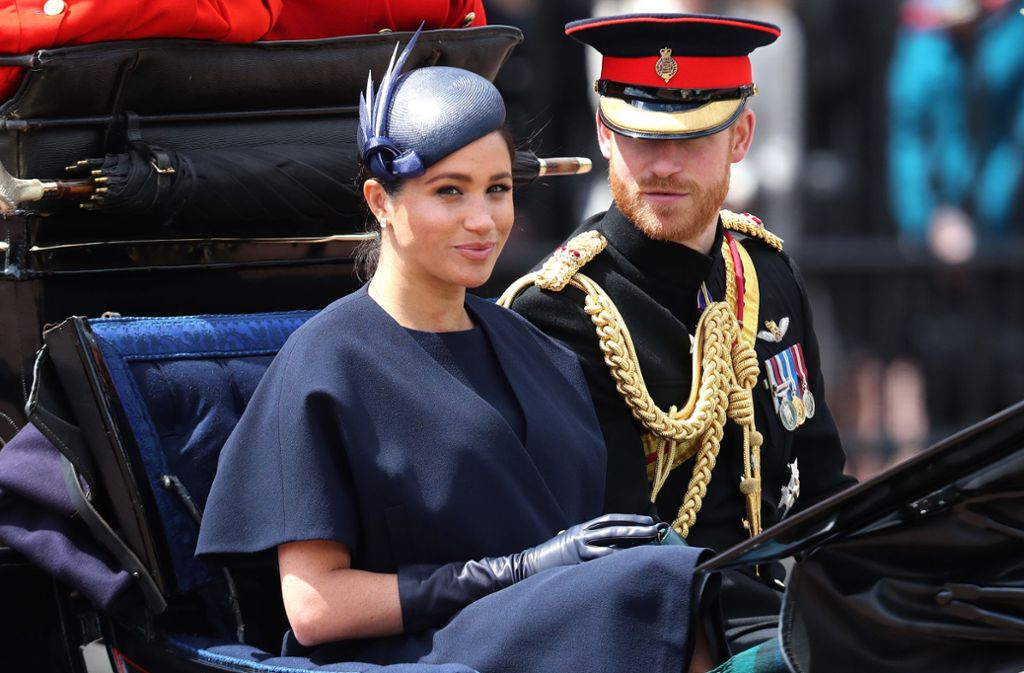 Herzogin Meghan und Prinz Harry bei Trooping the Colour. Foto: Getty Images