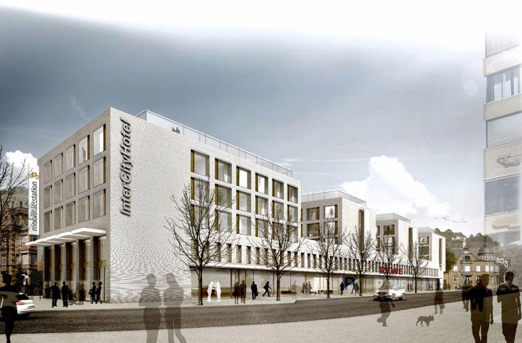 Statt eines Hotels sollen  am alten Zentralen Omnibusbahnhof in Esslingen nun 140 Mikro-Apartments entstehen. Foto: Wittfoht Architekten