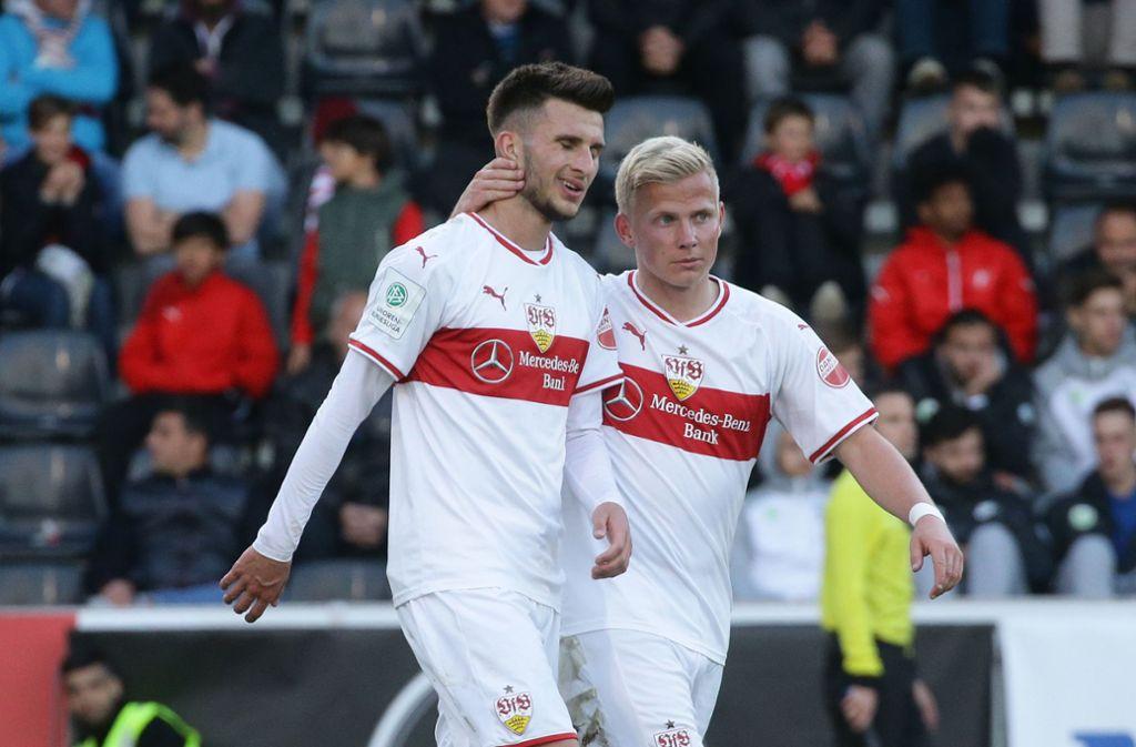 Die U19 des VfB und des VfL Wolfsburg trennen sich torlos. Foto: Pressefoto Baumann