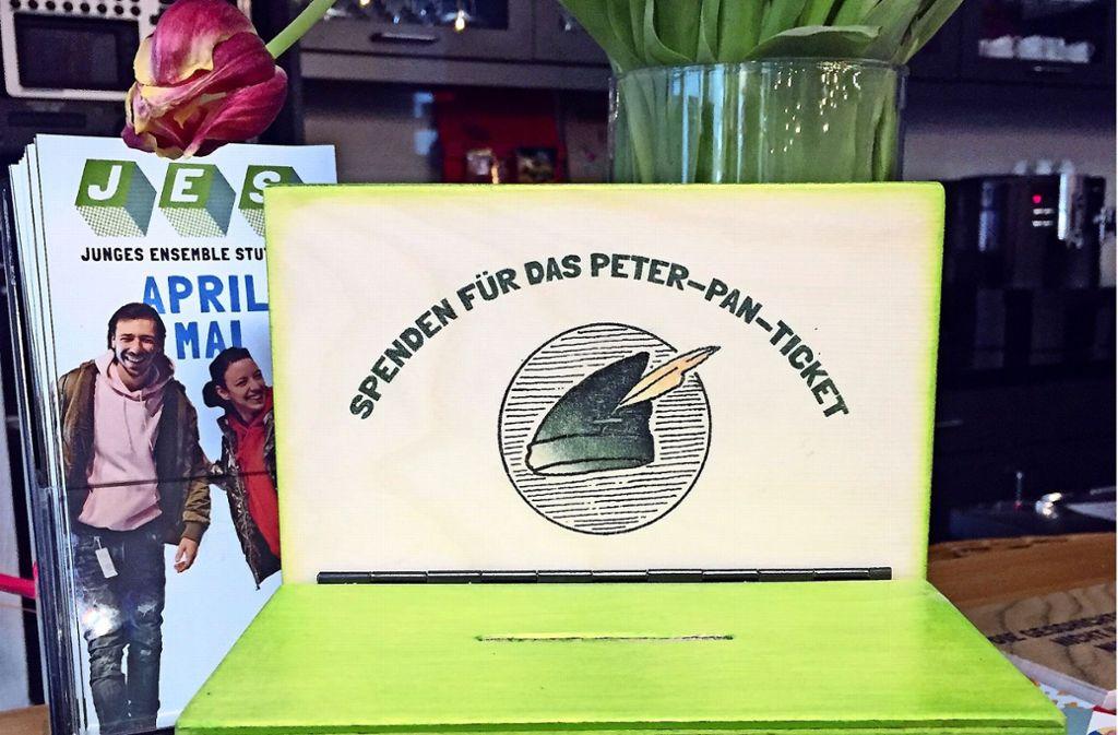 Die Peter-Pan-Kasse im JES:  Spender ermöglichen das Solidaritätsticket. Foto: JES