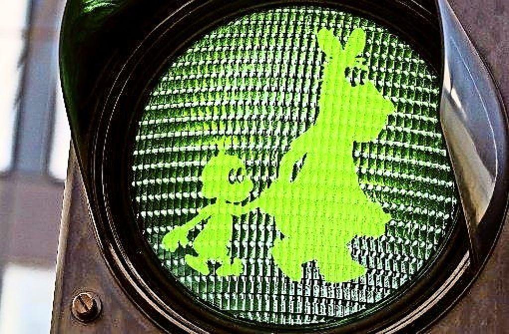 Der Wunsch vieler Fans: Eine Fußgängerampel für Äffle & Pferdle Foto: Film-Lang